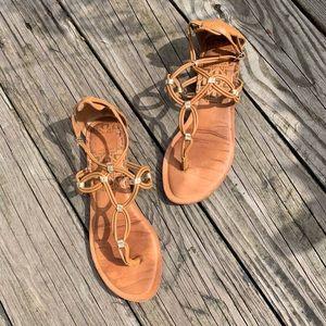 Dolce Vita Ankle Strap Gold Detail Sandals